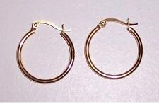 Stainless Steel 25mm Hoop Earrings (Almost 1 inch) High Polished 18k Gold Plated