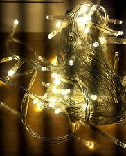LED Lichterkette Außen + Innen 80  Lichter 4 m + 2.5 Trafo Klar Transparent