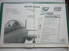 1/1968 PUB AVION AERONAUTICA MACCHI MB-326 MILITARY JET TRAINER ORIGINAL AD
