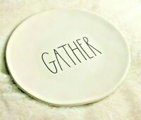 Rae Dunn Serving  Plate  inscribed GATHER.      NWOT
