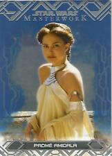 "Star Wars Masterwork 2017: #2 ""Padme Amidala"" Blue Parallel Base Card"