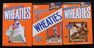 Wheaties Cereal Lot Of 3 Small Boxes Jackie Robinson, Nolan Ryan & Lou Gehrig