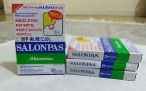 SALONPAS- Patch solagment Douleurs-boite de 20. Neuf.