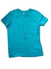 Old Navy Boys Sz Lg 10/12 Turquoise Blue Shirt Sleeve Shirt