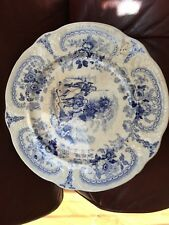 Antique Brameld Rockingham Don Quixote Series Blue Transfer Printed Plate. 22cm