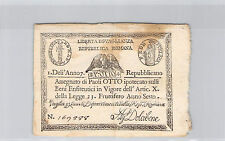ITALIE 8 PAOLI AN 7 (1798) N° 169888 PICK S 538