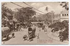 POSTCARD-CEYLON-PTD. A Scene in The Pettah or Native Town, Colombo.