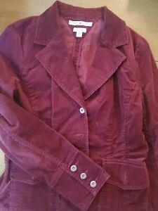 Tommy Hilfiger Cranberry Corduroy Jacket Blazer Button Womens Large
