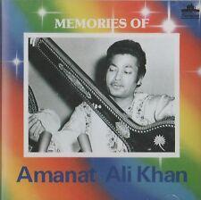 AMANAT ALI KHAN - MEMORIES OF AMANT ALI KHAN -BRAND NEW ORIGINAL CD -FREE UKPOST