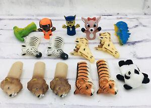 Animal Finger Puppets Paw Patrol Panda Lion Tiger Giraffe Dinosaur Bath Set Lot