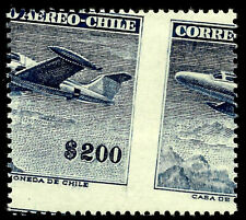 CHILE, HUGE ERROR, # 575 ENGRAVED, YEAR 1957, NO WATERMARK, MINT NEVER HINGED