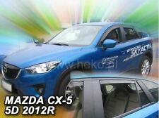 Deflettori Aria Antiturbo Anteriori Oscurati Mazda CX-5 CX5 CX 5 KF dal 2017
