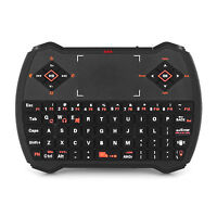 Wireless 2.4GHz Qwerty Keyboard Touchpad Remote Mini PC Android TV Box HTPC ED