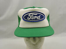 Ford Mesh Trucker Hat Cap Patch Two Tone Green White One Size Snapback Biker USA