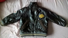 Faux Leather Boy  Kids Childs Biker Zip Up Jacket Coat 4-5 yrs