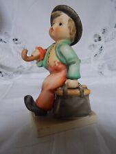 Vtg Hummel,A Marry Wanderer, Boy With Umbrella & Bag Figurine