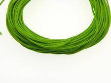 10m gewachste Polyester Kordel lime grün 1mm (1179)