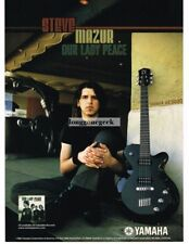 2003 YAMAHA AES820 Electric Guitar STEVE MAZUR of Our Lady Peace Vtg Print Ad