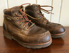 Browning Mens 11 Boots Leather Hunting Work Desert Waterproof Moccasin Toe