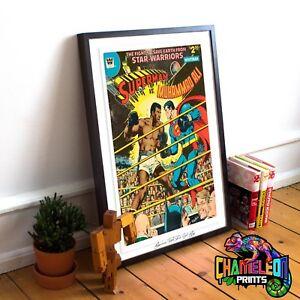 Muhammad Ali Vs Superman Poster Print A4 A3