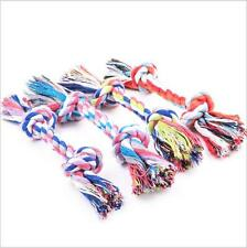 1Pcs Pet Dog Chew Knot Toy Cotton Braided Bone Rope Puppy Dog 17cm Random Color