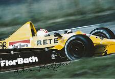Arturo Merzario mano firmato Ford Cosworth F1 12x8 foto.