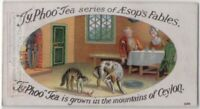 The Dog And The Cat Aesop's Fable Moral Story 1920s  Ad Trade Card