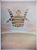 AFFICHE PUBLICITAIRE Jean-Michel FOLON  - PALAIS DE BEAUX ART DE BRUXELLES