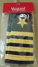 USN US NAVY O-6 CAPT CAPTAIN SERVICE DRESS SLIP-ON EPAULET SHOULDER SLIDE RANK
