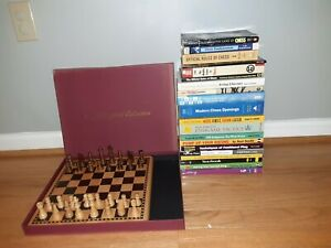 Chess Books Wooden Chess Set