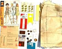 c.1970 McCall's Dress Pattern and Sewing Supplies Lot * INCOMPLETE