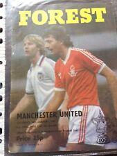 nottingham forest v manchester united 1980-1981 fa cup programme