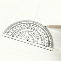 """20 Pcs Plastic Protractor 180 Degrees Clear Student Set 4"""" Math Measurment G3A1"""