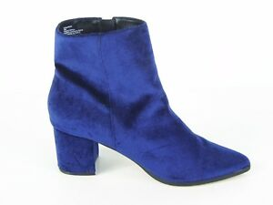 Steve Madden Women's Generous Ankle Boot - Blue Velvet - Sz 10 M