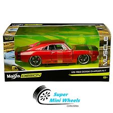 Maisto 1:24 Classic Muscle - Classic Muscle - 1969 Dodge Charger R/T - Red