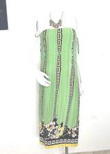 Venus Womens Stretch Dress Large Strapless Green Black Maxi  EUR SZ 44 46
