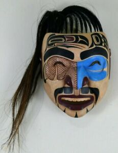 FIRST NATION STYLE TOTEMIC ANCESTOR MASK ~ CANADIAN ABORIGINAL STYLE