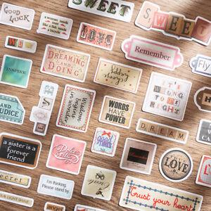 58X Vintage Sticker Paper Hand Account English Journal Scrapbooking Craft DIY