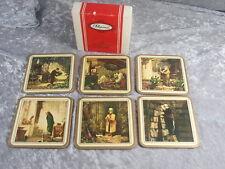 Pimpernel England 6 Untersetzer Traditional Coasters  127 Spitzweg 70er Jahre