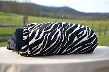 Dennis Basso Silky Faux Micro Mink Double Layer Throw - Zebra