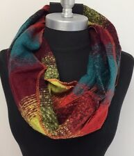 New Women Fashion Infinity Scarf 2-Circle Cowl Long Wrap color green/wine/lime