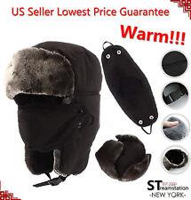 L&M Mens Winter Hat Trapper Aviator Russian Trooper Earflap Warm Ski W/Mask LFM