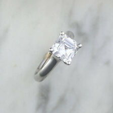 2.00 Ct Asscher Cut Solitaire Diamond Engagement Ring 14K White Gold Size L M N