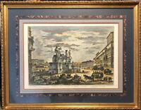color etching Giovanni Battista Piranesi Veduta della Piazza Di monte Cavallo