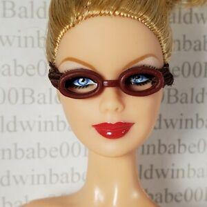 GLASSES ~ BARBIE DOLL SO CAL CALI GIRL WARM BROWN FAUX SWIM GOGGLES ACCESSORY