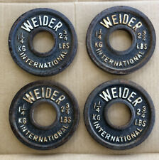 Weider International Four (4) 1.25kg 2.75 Lb Lbs Olympic Plates Weights