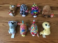 TY Beanie Boos Lot of 8 - 6 w/ Tags Koala Dog Leopard Walrus More! FREE SHIPPING