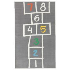 "IKEA HEMMAHOS Rug Gray Cildren Bedroom Hopscotch 63 x 39 3/8"" (160 x 100 cm) NEW"