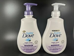 Lot Of 2 Baby Dove Calming Nights Tip-to-Toe Wash & Night Time Calming Lotion