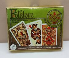 Piatnik Folklore Playing Cards Double Deck No 2169 Whist Bridge Rummy Canasta